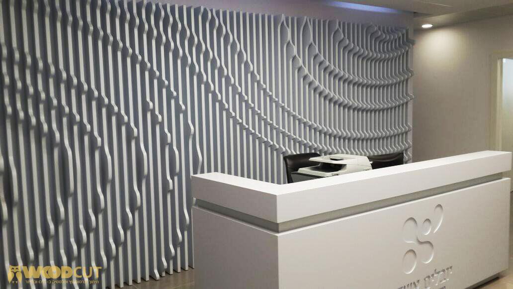 חיתוך עץ – קיר תלת מימד